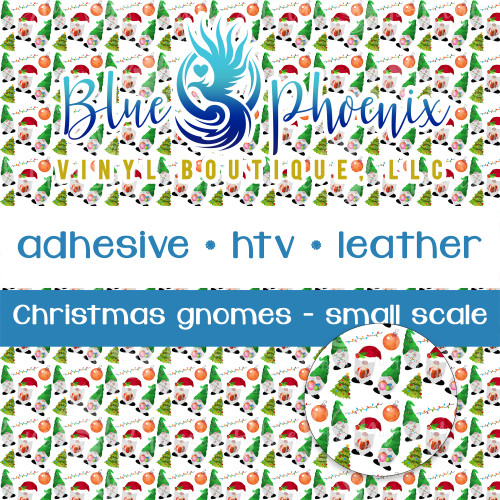 CHRISTMAS GNOMES PATTERNED VINYL OR LEATHER