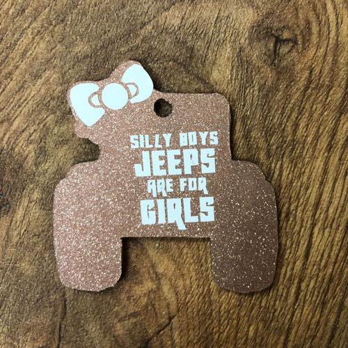 JEEP WITH BOW KEYCHAIN