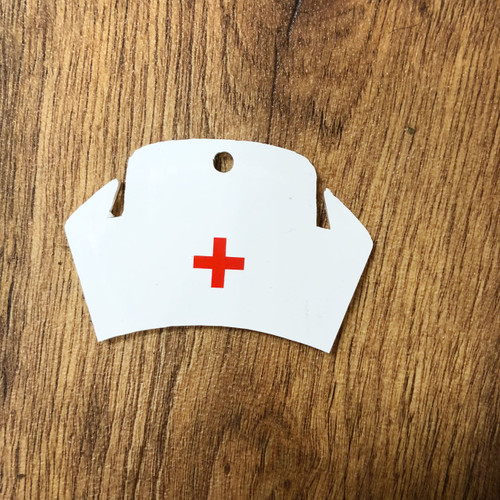 NURSE HAT KEYCHAIN