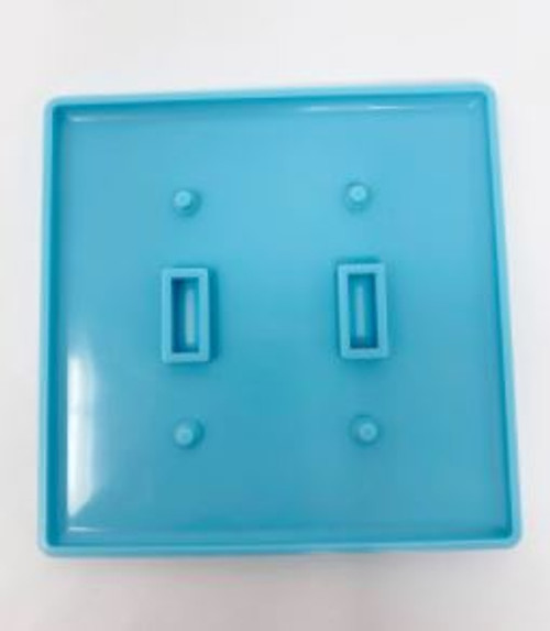 DOUBLE LIGHT SWITCH PLATE MOLD-BLUE GC