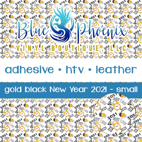 GOLD BLACK NEW YEAR 2021 PATTERNED VINYL OR LEATHER