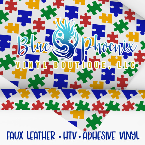 AUTISM PUZZLE 2021 PATTERNED VINYL OR LEATHER