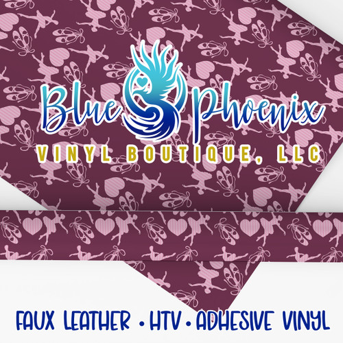 BALLERINA PATTERNED VINYL OR LEATHER