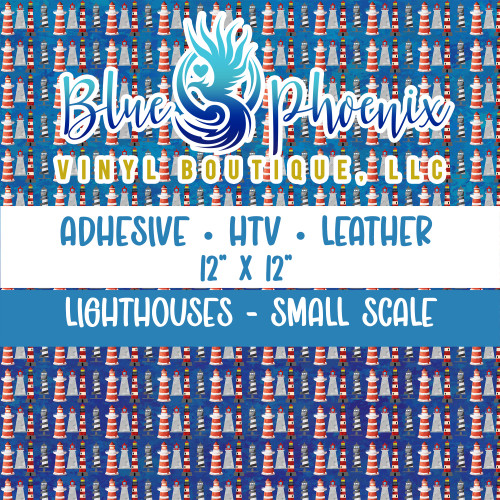 LIGHTHOUSES PATTERNED VINYL OR LEATHER