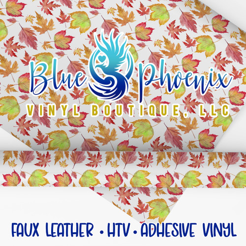 FALL LEAVES PATTERNED VINYL OR LEATHER