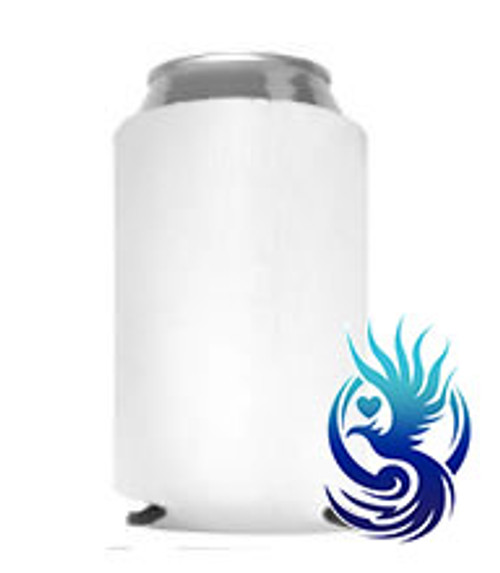 WHITE CAN COOLER SUBLIMATION BLANK