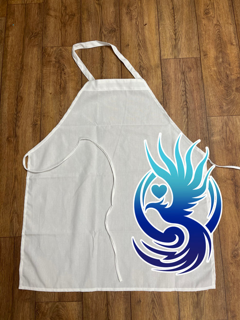 """100% POLYESTER APRON 32""""X28"""" SUBLIMATION BLANK"""
