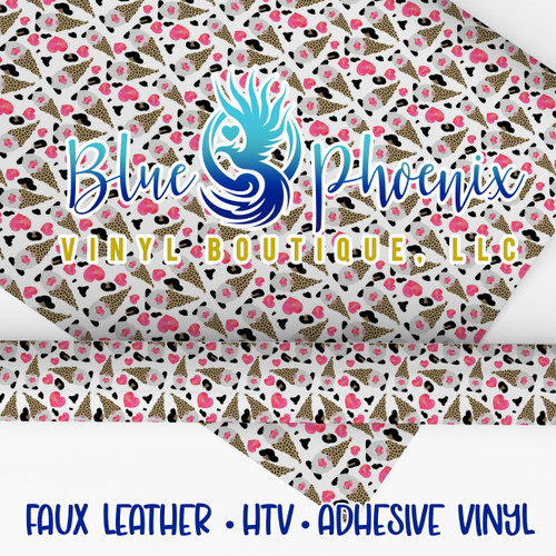 LEOPARD GNOME PATTERNED VINYL OR LEATHER