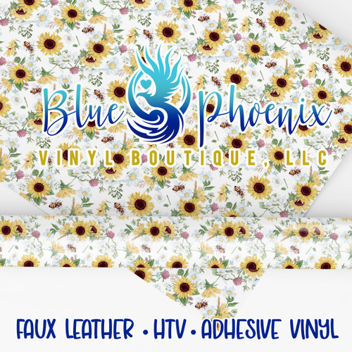 SUNFLOWER 2021 PATTERNED VINYL OR LEATHER