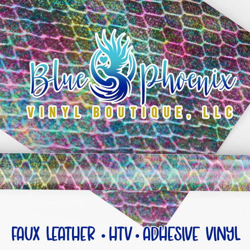 COLORFUL CROC PATTERNED VINYL OR LEATHER