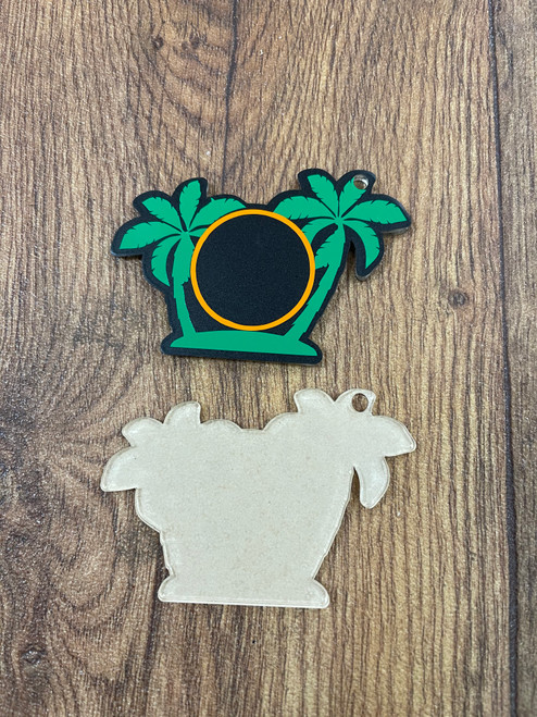 PALM TREE ACRYLIC KEYCHAIN