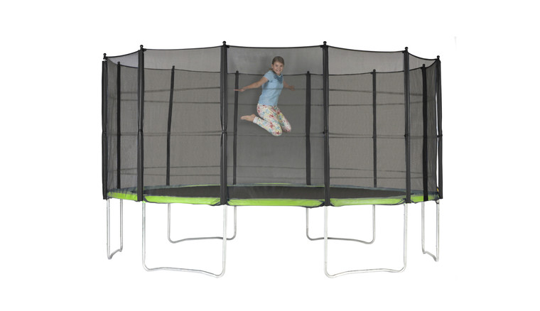 Action Sports 15ft Trampoline with Enclosure
