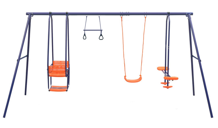 Action 4 Unit Swing Set with Lawn Swing