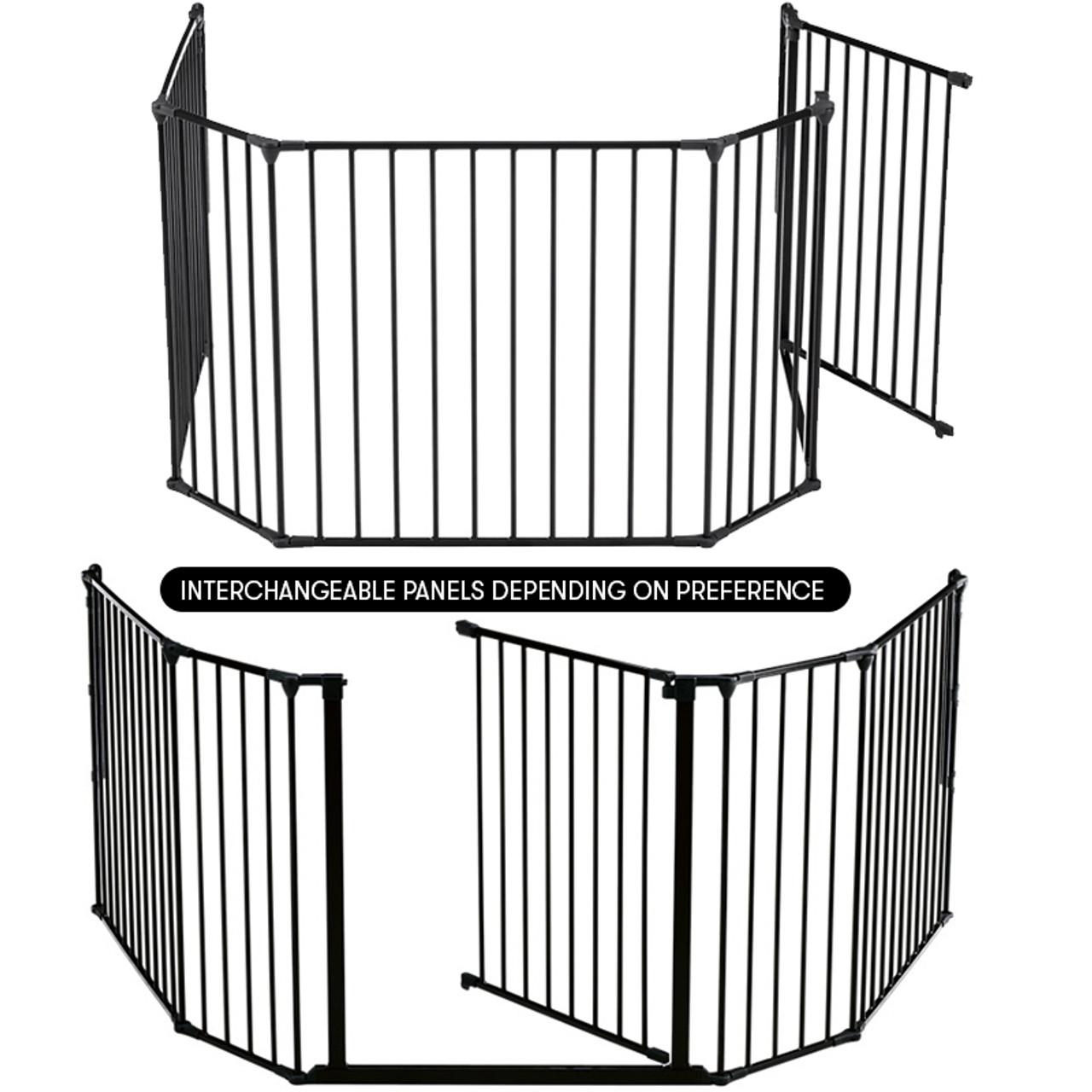 HEARTH GATE BABY SAFETY GATE 33CM EXTENSION NEW BABYDAN BLACK CONFIGURE