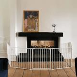 Product BabyDan Configure Flex XL Hearth Gate White 90-278cm Live wide