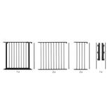 BabyDan Configure Flex XL Hearth Gate Black 90-278cm BabyDan Box Contains