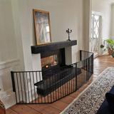 BabyDan Configure Flex XL Hearth Gate Black 90-278cm BabyDan Traditional Fireplace side