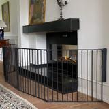 BabyDan Configure Flex XL Hearth Gate Black 90-278cm BabyDan Traditional Fireplace Wall Brackey