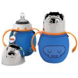 Haakaa 300ml Wide Neck Stainless Steel Baby Bottle - Blue