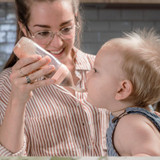 Haakaa Silicone Baby Food Dispensing Spoon - Grey live