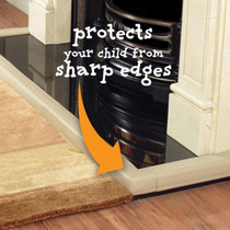 Clevamama Fireplace Edge Guard protects your child