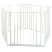 BabyDan Room Divider XXL White 90-350cm + Wall Fittings BabyDan