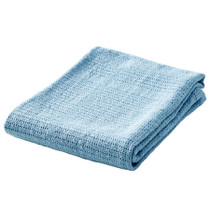 BabyDan Cotton Cellular Blanket - Blue BabyDan