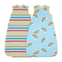Rainbow Stripe - Wash & Wear - Twin pack 2.5 Tog