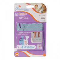Dreambaby Heat Alert Non Slip Bath Mats - 10 Pack box