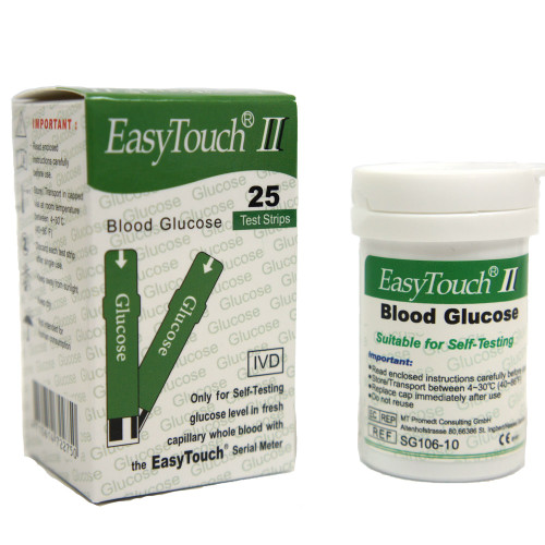 Easy Touch® Glucose Test Strips 25's
