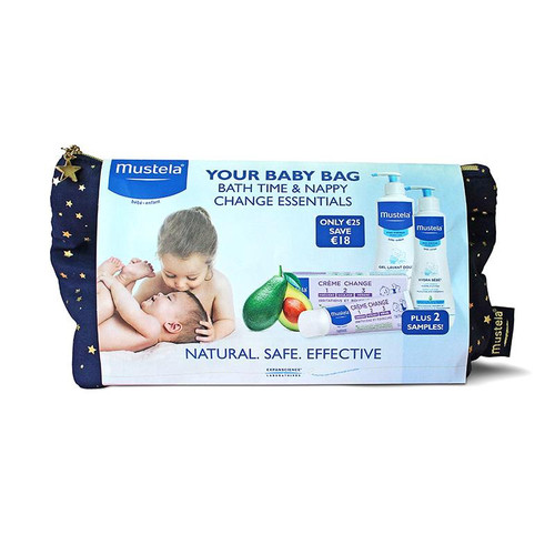 Mustela Your Baby Bag Bath Time & Nappy Change Essentials - outer pack