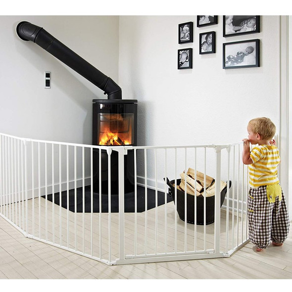 BabyDan Configure Flex XL Hearth Gate White 90-278cm