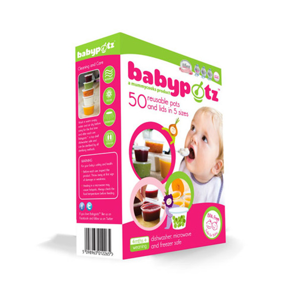 Babypotz Assorted Pack (50 Pots and Lids)