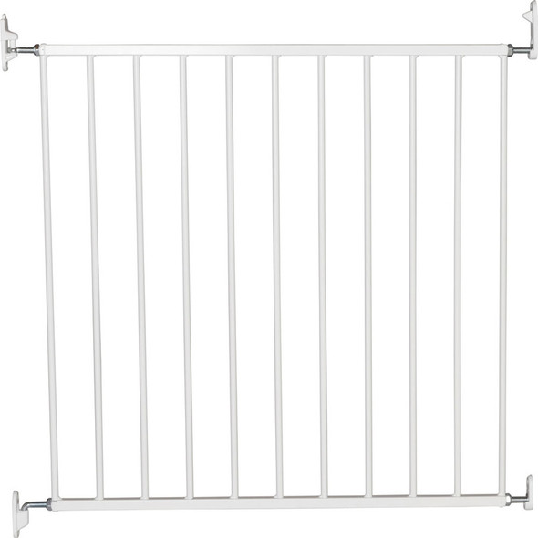 BabyDan No Trip Wall-Mounted Metal Safety Gate - White (72.5 - 78.5 cm) BabyDan