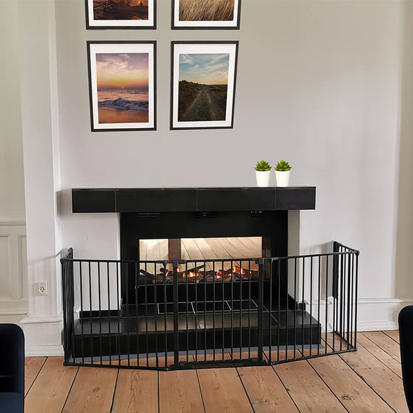 BabyDan Configure Flex XL Hearth Gate Black 90-278cm BabyDan Traditional Fireplace