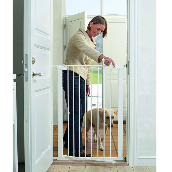 BabyDan Pet Gate Extra Tall - White Inc 1 Ext (73-86cm; Max 120)