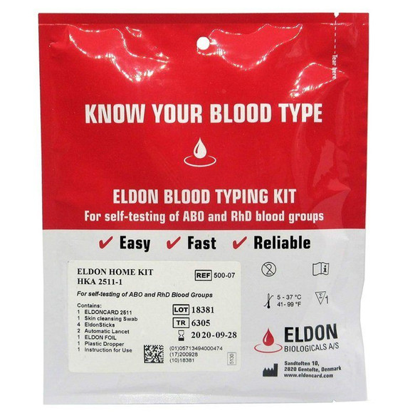 eldon blood type kit