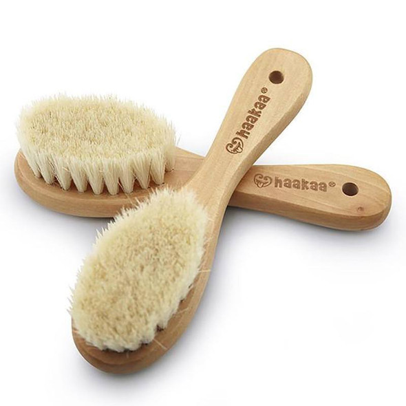Haakaa Goats Wool Wooden Hairbrush