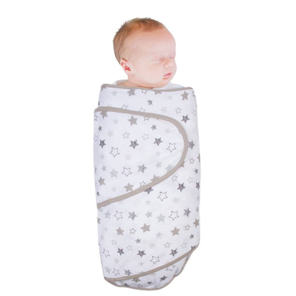 Miracle Blanket Swaddle grey stars