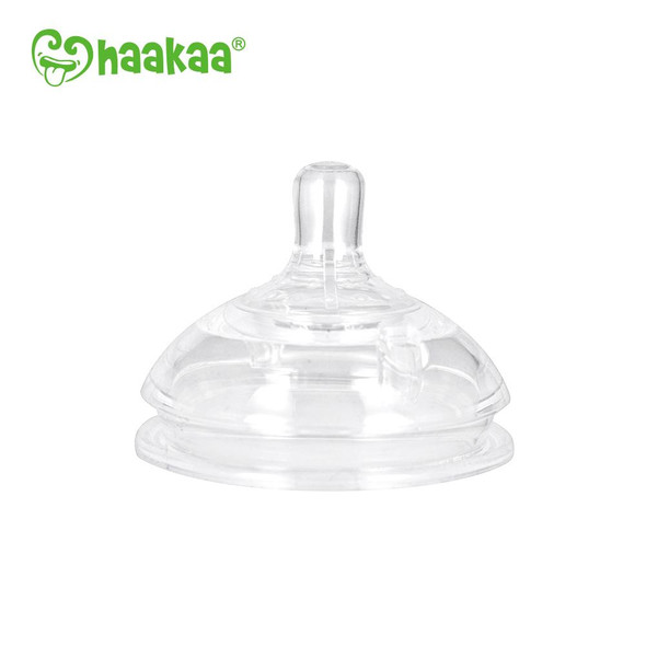 Haakaa Silicone Bottle Anti-Colic Nipple 2Pcs