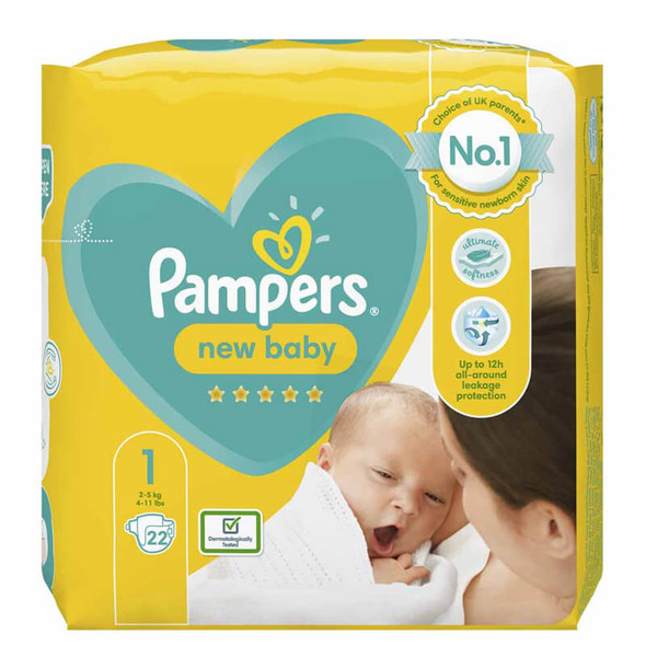 Pampers Babydry New Baby 22's Size 2-5Kg