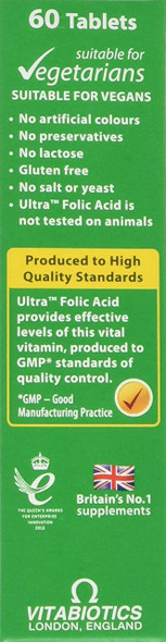 Vitabiotics Ultra Folic Acid side