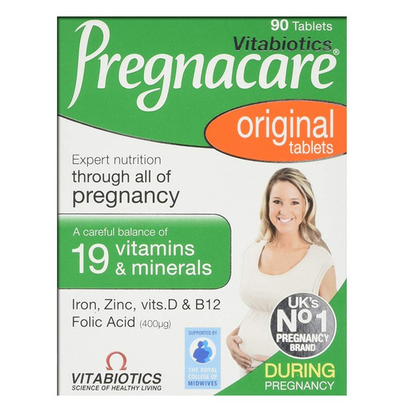 Pregnacare Original, 90 Tablets.