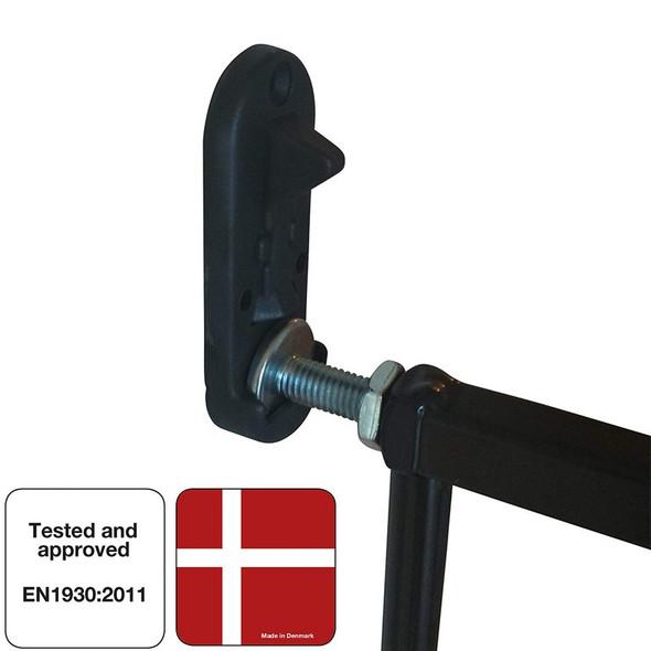 Extra Tall Extendable Pet Gate - Black (62.5-106.8Cm)