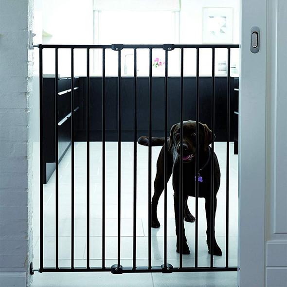 Extra Tall Extendable Pet Gate - Black (62.5-106.8Cm) dog