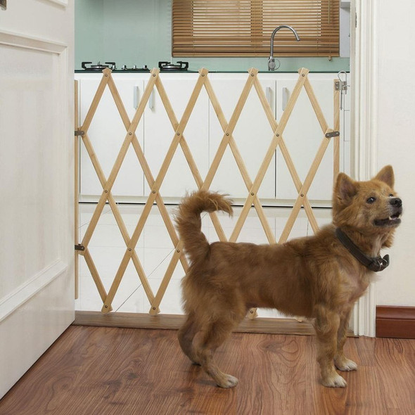 Bettacare Expandable Pet Barrier 60cm - 108cm Natural with dog