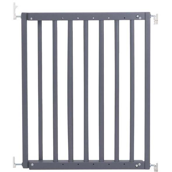 Safetots Chunky Wooden Screw Fit Stair Gate Grey 63.5cm-105.5cm
