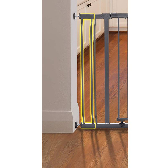 Dreambaby Ava Gate 9cm Wide Extension - Charcoal live