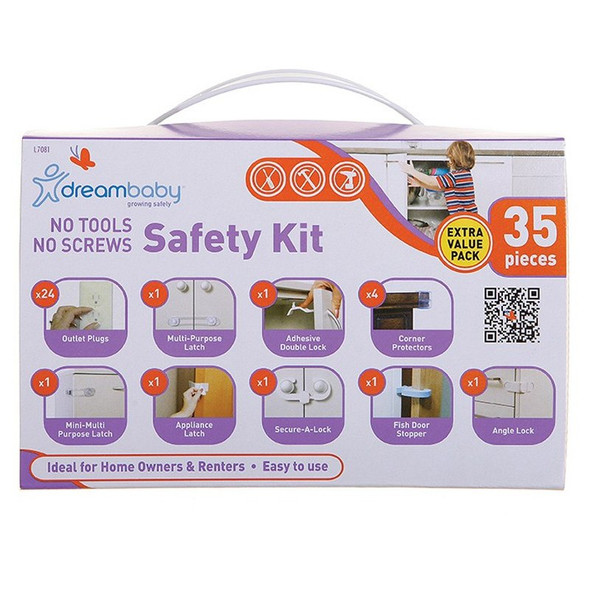 Dreambaby No Tools, No Screws, Safety Value Pk 35PC box