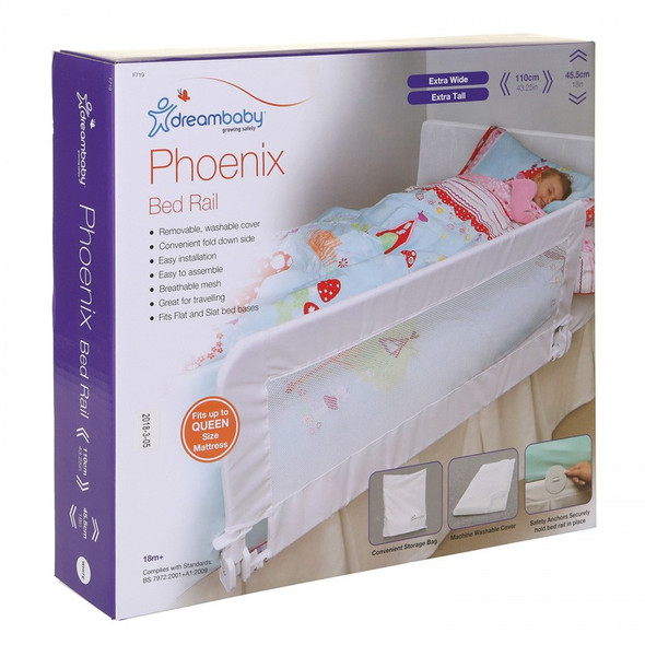 Dreambaby Phoenix Bed Rail - White